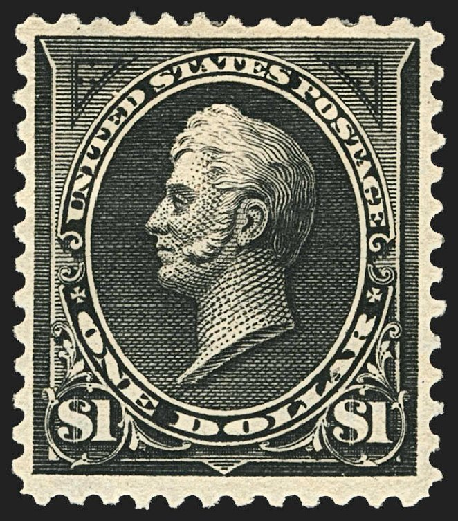 Values of US Stamps Scott Catalog # 276A - US$1.00 1895 Perry. Robert Siegel Auction Galleries, Jul 2015, Sale 1107, Lot 365