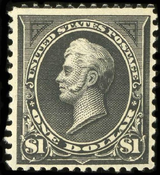 Price of US Stamp Scott Catalogue #276A - 1895 US$1.00 Perry. Spink Shreves Galleries, Jul 2015, Sale 151, Lot 225