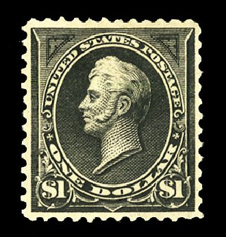 US Stamp Value Scott Catalogue #276A: 1895 US$1.00 Perry. Cherrystone Auctions, Jul 2015, Sale 201507, Lot 2092