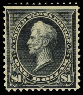 Prices of US Stamps Scott Catalogue #276A: 1895 US$1.00 Perry. Daniel Kelleher Auctions, Aug 2015, Sale 672, Lot 2552