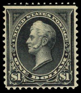 Prices of US Stamps Scott Catalogue #276A: 1895 US$1.00 Perry. Daniel Kelleher Auctions, Aug 2015, Sale 672, Lot 2552