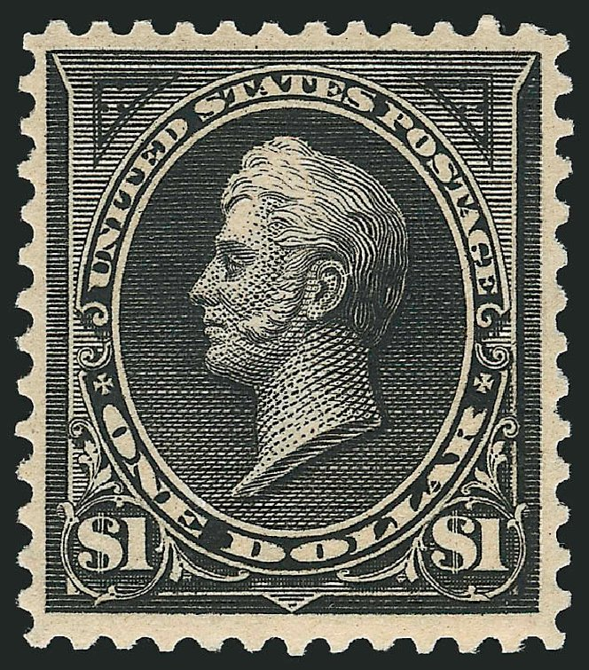 Price of US Stamps Scott Catalog # 276A: 1895 US$1.00 Perry. Robert Siegel Auction Galleries, Apr 2015, Sale 1096, Lot 482