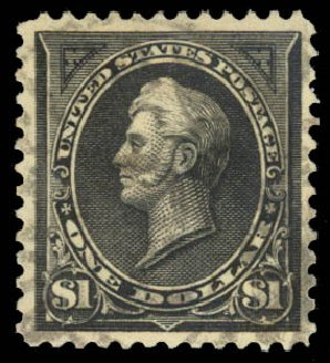 US Stamps Values Scott # 276A - 1895 US$1.00 Perry. Daniel Kelleher Auctions, Aug 2015, Sale 672, Lot 2553