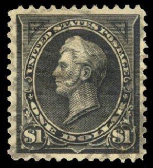 US Stamps Values Scott # 276A - 1895 US$1.00 Perry. Daniel Kelleher Auctions, Aug 2015, Sale 672, Lot 2553