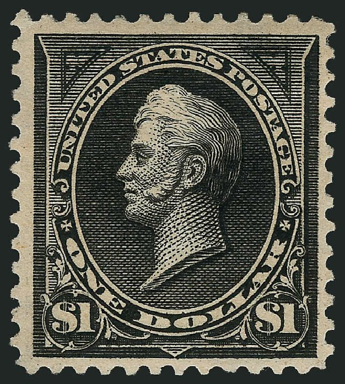 Values of US Stamps Scott Catalog #276A: 1895 US$1.00 Perry. Robert Siegel Auction Galleries, Apr 2015, Sale 1096, Lot 483