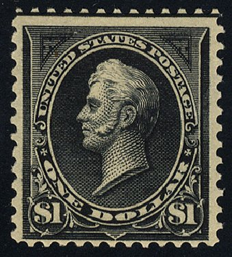 Cost of US Stamps Scott Catalog # 276A - 1895 US$1.00 Perry. Cherrystone Auctions, Apr 2014, Sale 201404, Lot 76
