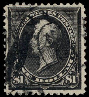 Prices of US Stamps Scott Catalogue 276A - US$1.00 1895 Perry. Daniel Kelleher Auctions, May 2015, Sale 669, Lot 2796