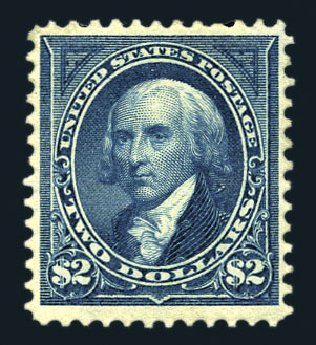 US Stamps Value Scott Catalogue 277: US$2.00 1895 Madison. Harmer-Schau Auction Galleries, Aug 2015, Sale 106, Lot 1690