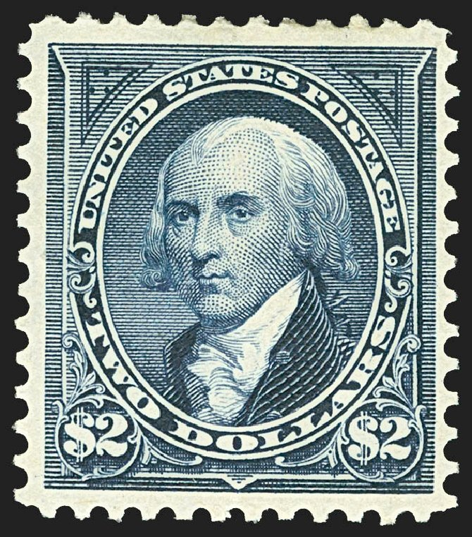 Value of US Stamps Scott #277: US$2.00 1895 Madison. Robert Siegel Auction Galleries, Jul 2015, Sale 1107, Lot 370