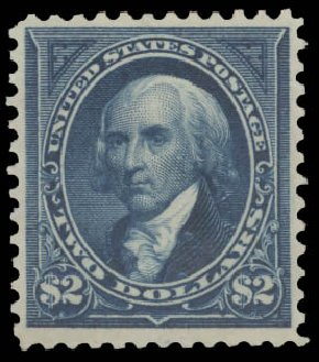 US Stamp Prices Scott Catalogue # 277: 1895 US$2.00 Madison. Daniel Kelleher Auctions, Aug 2015, Sale 672, Lot 2554