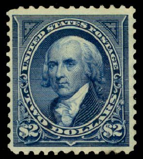 Value of US Stamp Scott 277 - 1895 US$2.00 Madison. Daniel Kelleher Auctions, Aug 2015, Sale 672, Lot 2555