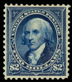 Prices of US Stamps Scott Catalog # 277: 1895 US$2.00 Madison. Daniel Kelleher Auctions, Aug 2015, Sale 672, Lot 2556
