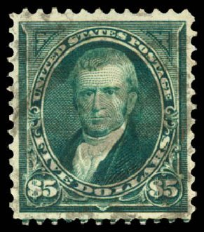 Prices of US Stamps Scott Cat. #278 - 1895 US$5.00 Marshall. Daniel Kelleher Auctions, Aug 2015, Sale 672, Lot 2562