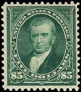 Value of US Stamp Scott Catalogue #278: US$5.00 1895 Marshall. Regency-Superior, Aug 2015, Sale 112, Lot 566