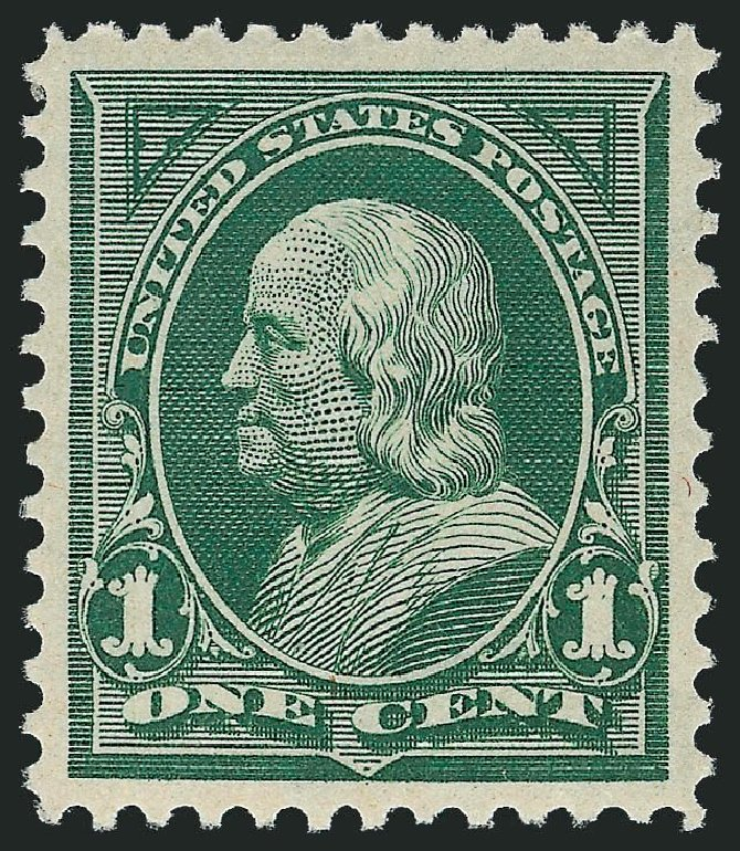 US Stamp Value Scott Catalog #279 - 1898 1c Franklin. Robert Siegel Auction Galleries, Nov 2013, Sale 1057, Lot 867