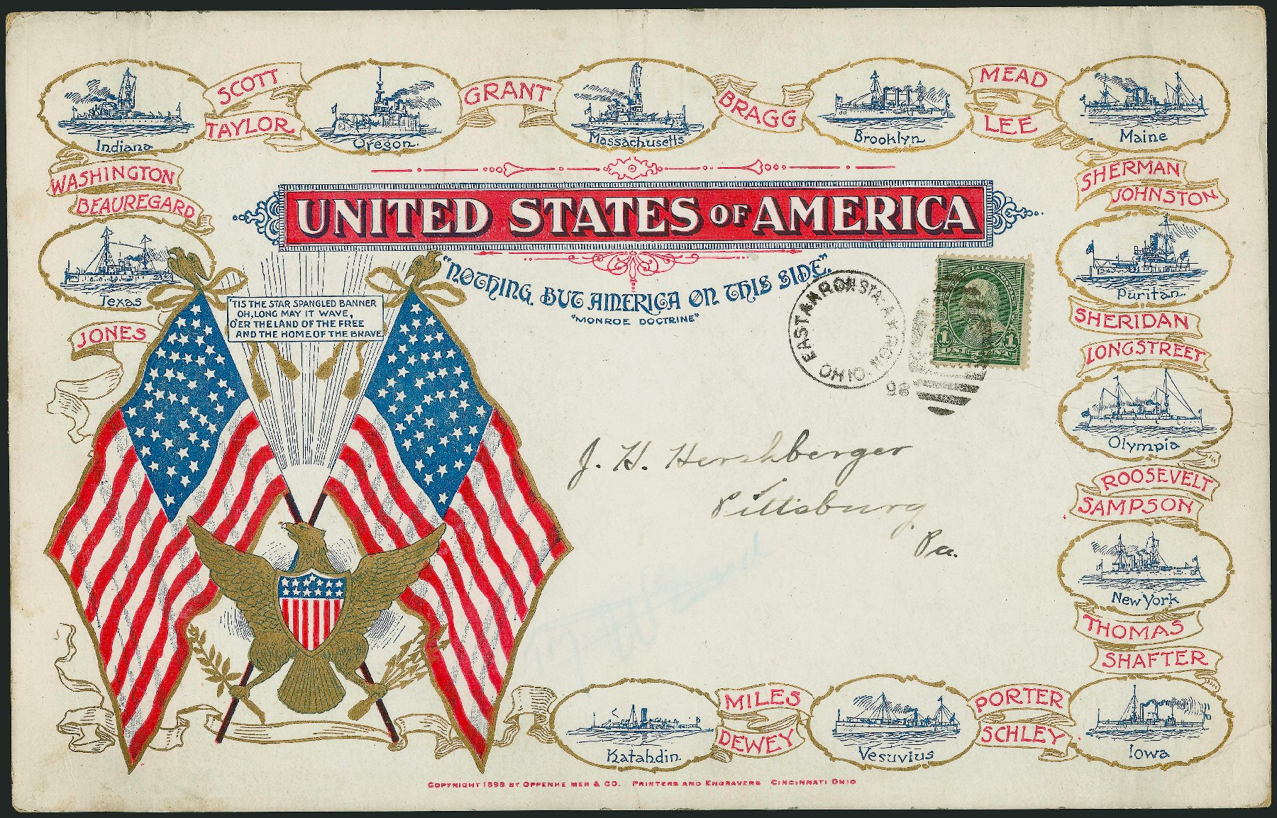 Price of US Stamp Scott Cat. 279: 1c 1898 Franklin. Robert Siegel Auction Galleries, Jun 2015, Sale 1105, Lot 2637