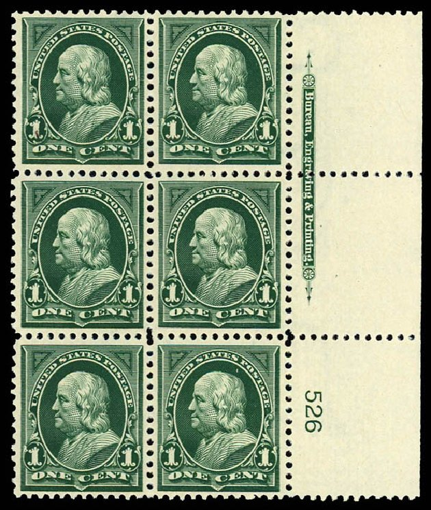 Costs of US Stamp Scott Catalogue # 279: 1898 1c Franklin. Daniel Kelleher Auctions, Dec 2012, Sale 633, Lot 492