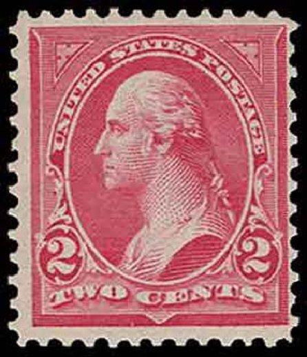 Cost of US Stamp Scott Cat. 279B: 1897 2c Washington. H.R. Harmer, Nov 2013, Sale 3004, Lot 1198
