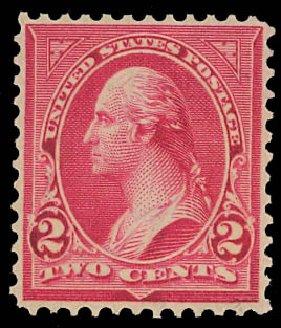 Value of US Stamp Scott Catalog # 279B: 2c 1897 Washington. Daniel Kelleher Auctions, Jan 2012, Sale 628, Lot 398