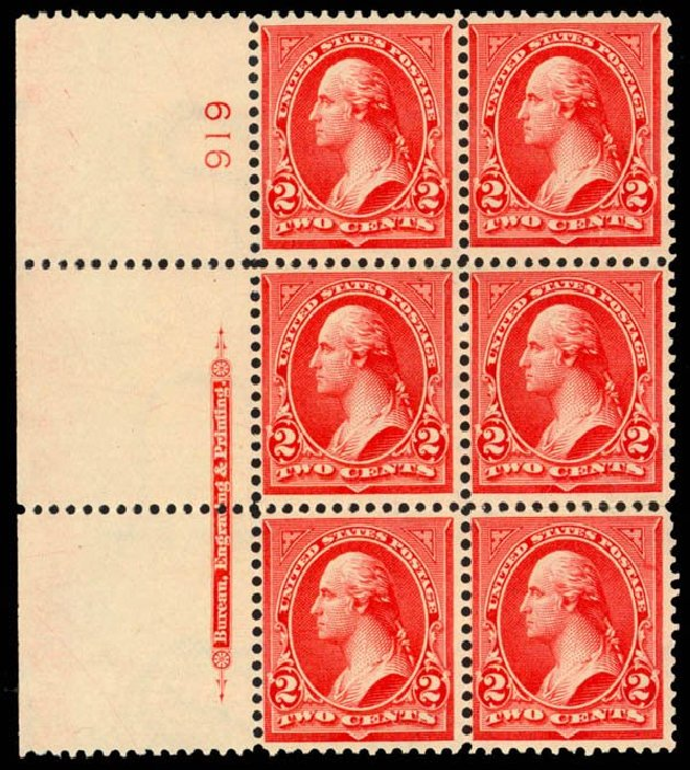 Price of US Stamp Scott #279B - 1897 2c Washington. Daniel Kelleher Auctions, Apr 2013, Sale 636, Lot 228