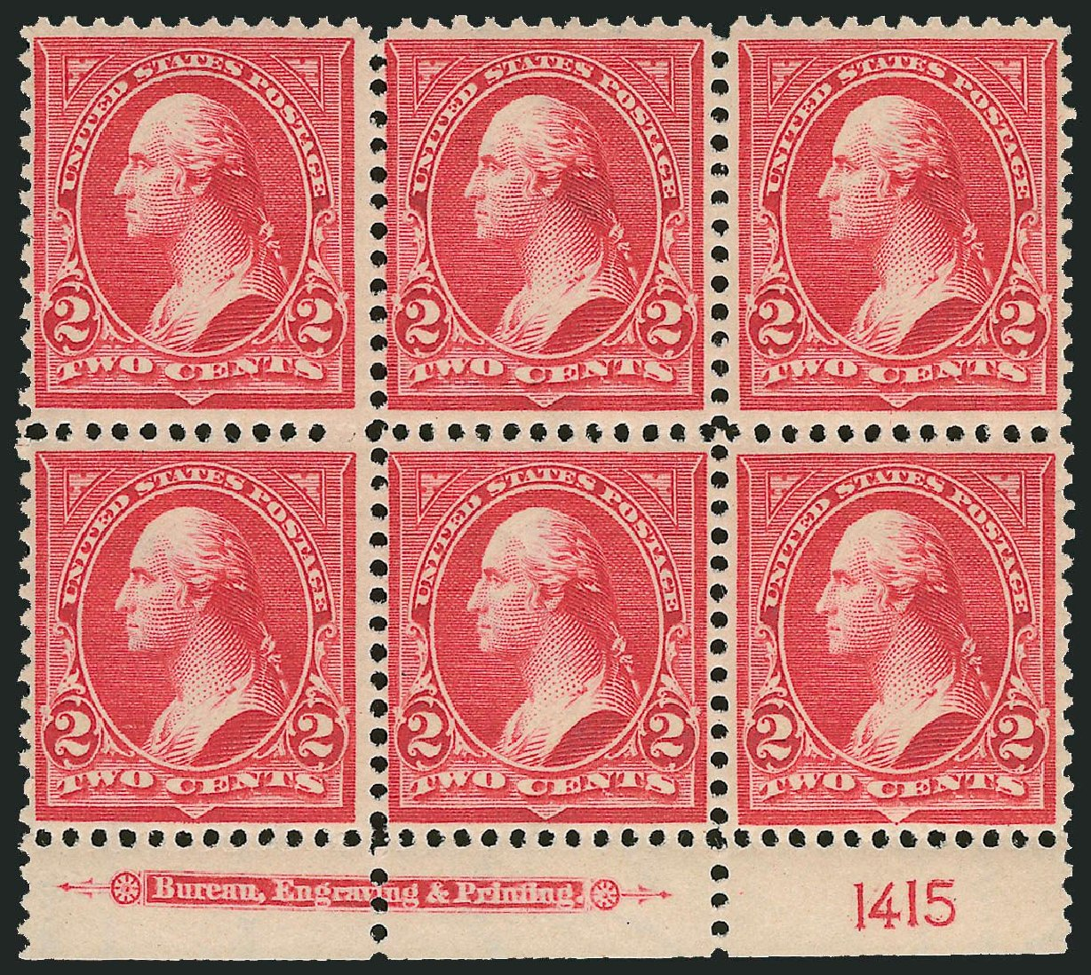US Stamps Values Scott Catalog # 279B - 2c 1897 Washington. Robert Siegel Auction Galleries, Nov 2014, Sale 1084, Lot 3639