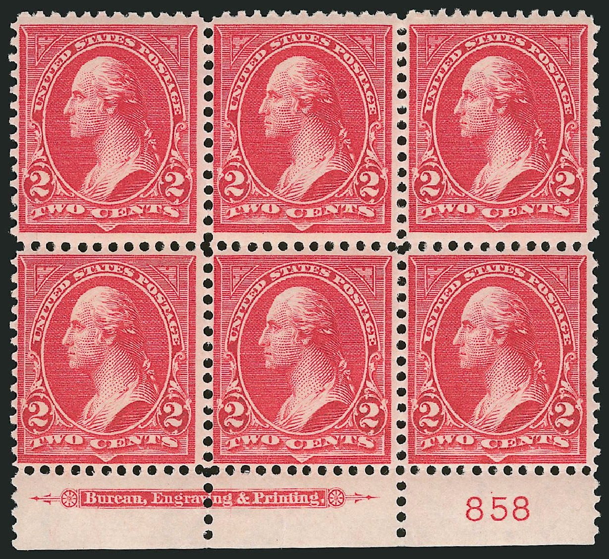 US Stamps Prices Scott # 279B: 2c 1897 Washington. Robert Siegel Auction Galleries, Nov 2014, Sale 1084, Lot 3640