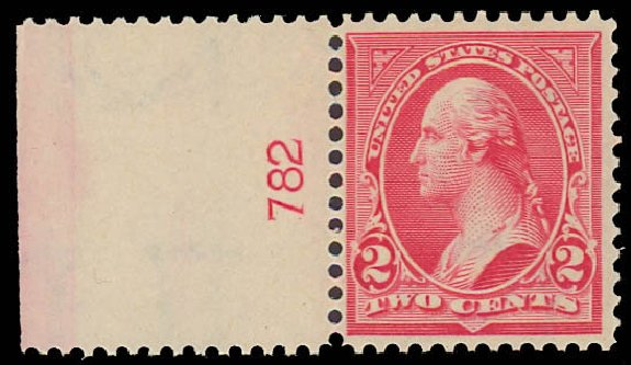 US Stamp Values Scott Catalog #279B - 2c 1897 Washington. Daniel Kelleher Auctions, Jun 2012, Sale 630, Lot 1641