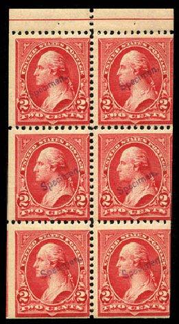 Values of US Stamps Scott Catalog #279B - 1897 2c Washington. Matthew Bennett International, Mar 2012, Sale 344, Lot 4464