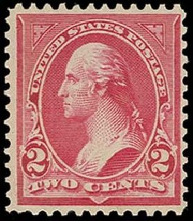 US Stamps Prices Scott Catalog #279B - 1897 2c Washington. H.R. Harmer, Oct 2014, Sale 3006, Lot 1295