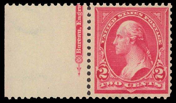 Values of US Stamp Scott Catalogue #279B: 1897 2c Washington. Daniel Kelleher Auctions, Aug 2012, Sale 631, Lot 1002