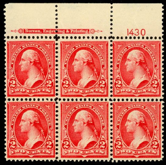 US Stamp Values Scott Catalog # 279B - 2c 1897 Washington. Daniel Kelleher Auctions, Sep 2014, Sale 655, Lot 612