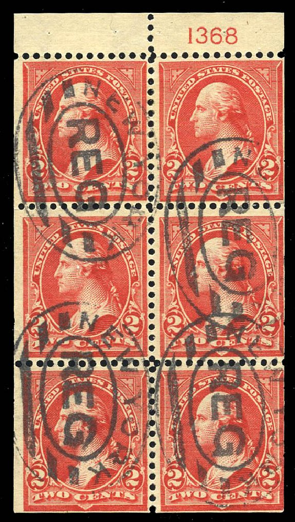US Stamps Values Scott Catalog #279B - 1897 2c Washington. Matthew Bennett International, Feb 2015, Sale 351, Lot 153