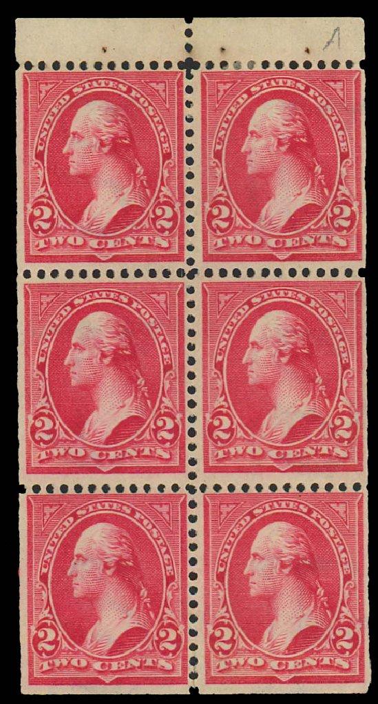 US Stamps Prices Scott Cat. #279B: 2c 1897 Washington. Daniel Kelleher Auctions, Apr 2012, Sale 629, Lot 263