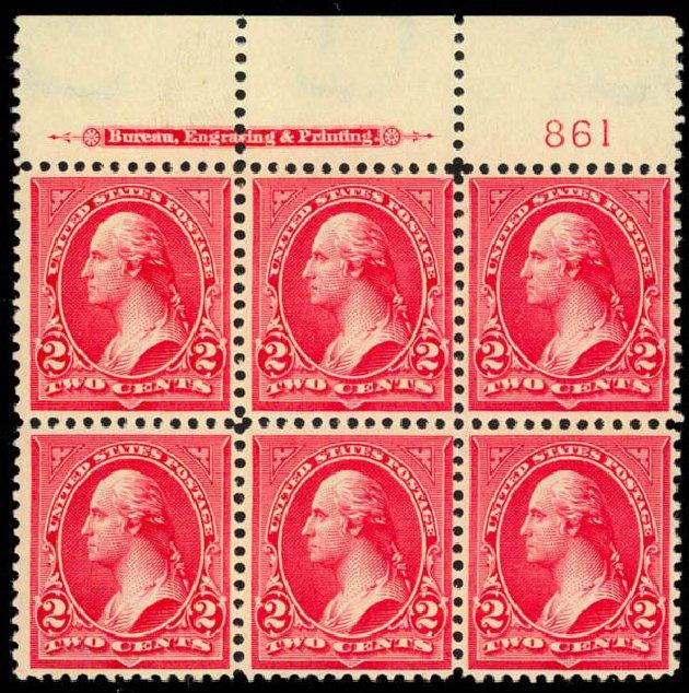 Value of US Stamps Scott #279B - 2c 1897 Washington. Daniel Kelleher Auctions, Mar 2013, Sale 635, Lot 396