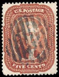 Value of US Stamps Scott 28 - 1857 5c Jefferson. Schuyler J. Rumsey Philatelic Auctions, Apr 2015, Sale 60, Lot 1977