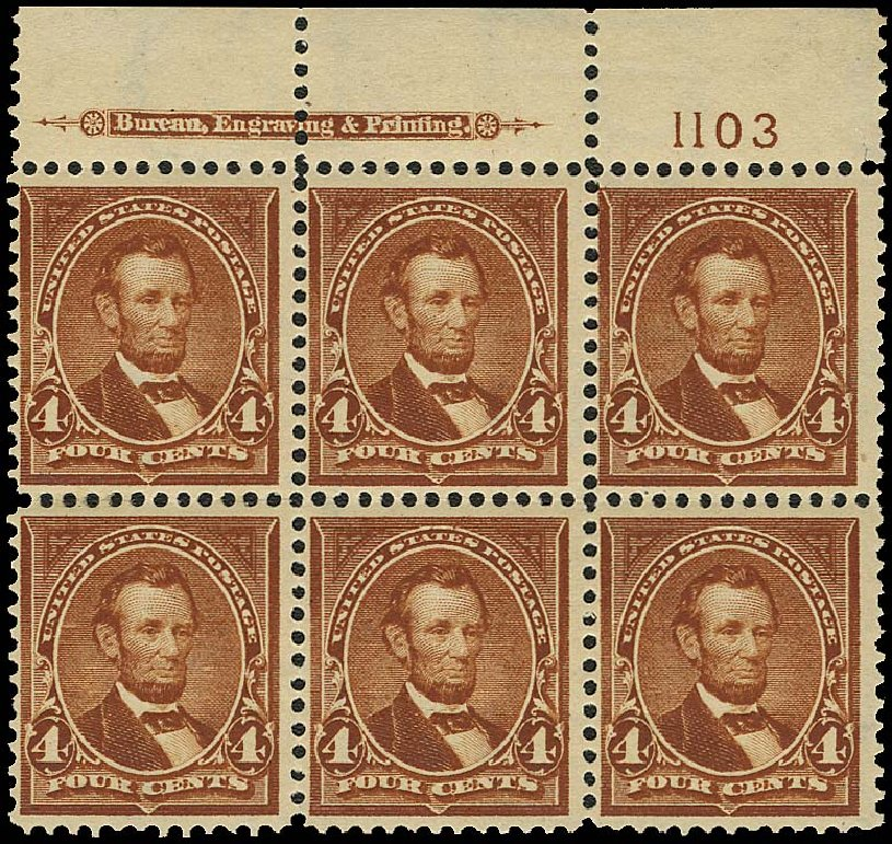 US Stamp Prices Scott #280 - 1898 4c Lincoln. Regency-Superior, Aug 2015, Sale 112, Lot 577
