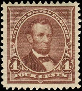 Price of US Stamp Scott Catalogue 280 - 1898 4c Lincoln. Regency-Superior, Aug 2015, Sale 112, Lot 578