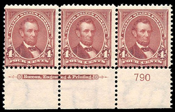 US Stamp Value Scott #280: 4c 1898 Lincoln. Schuyler J. Rumsey Philatelic Auctions, Apr 2015, Sale 60, Lot 2758