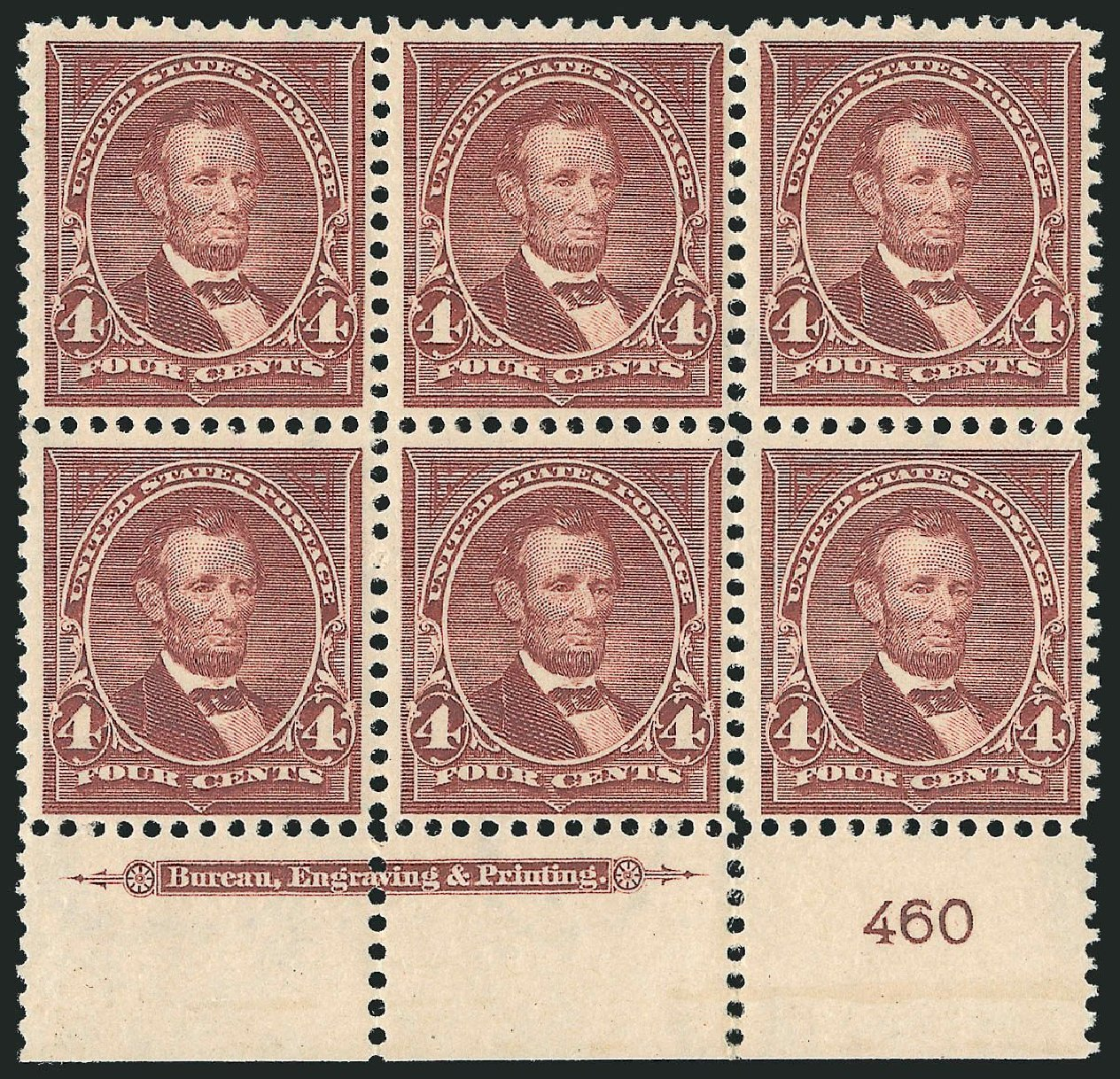 Prices of US Stamps Scott Cat. 280 - 1898 4c Lincoln. Robert Siegel Auction Galleries, Nov 2014, Sale 1084, Lot 3645