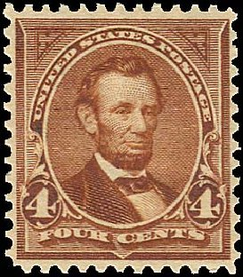 Values of US Stamps Scott Cat. 280: 4c 1898 Lincoln. Regency-Superior, Aug 2015, Sale 112, Lot 583