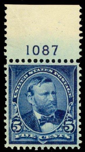 US Stamps Value Scott Catalog #281: 1898 5c Grant. Daniel Kelleher Auctions, Oct 2014, Sale 660, Lot 2267