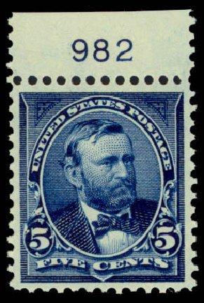 US Stamp Value Scott Catalogue # 281: 1898 5c Grant. Daniel Kelleher Auctions, Mar 2013, Sale 635, Lot 398