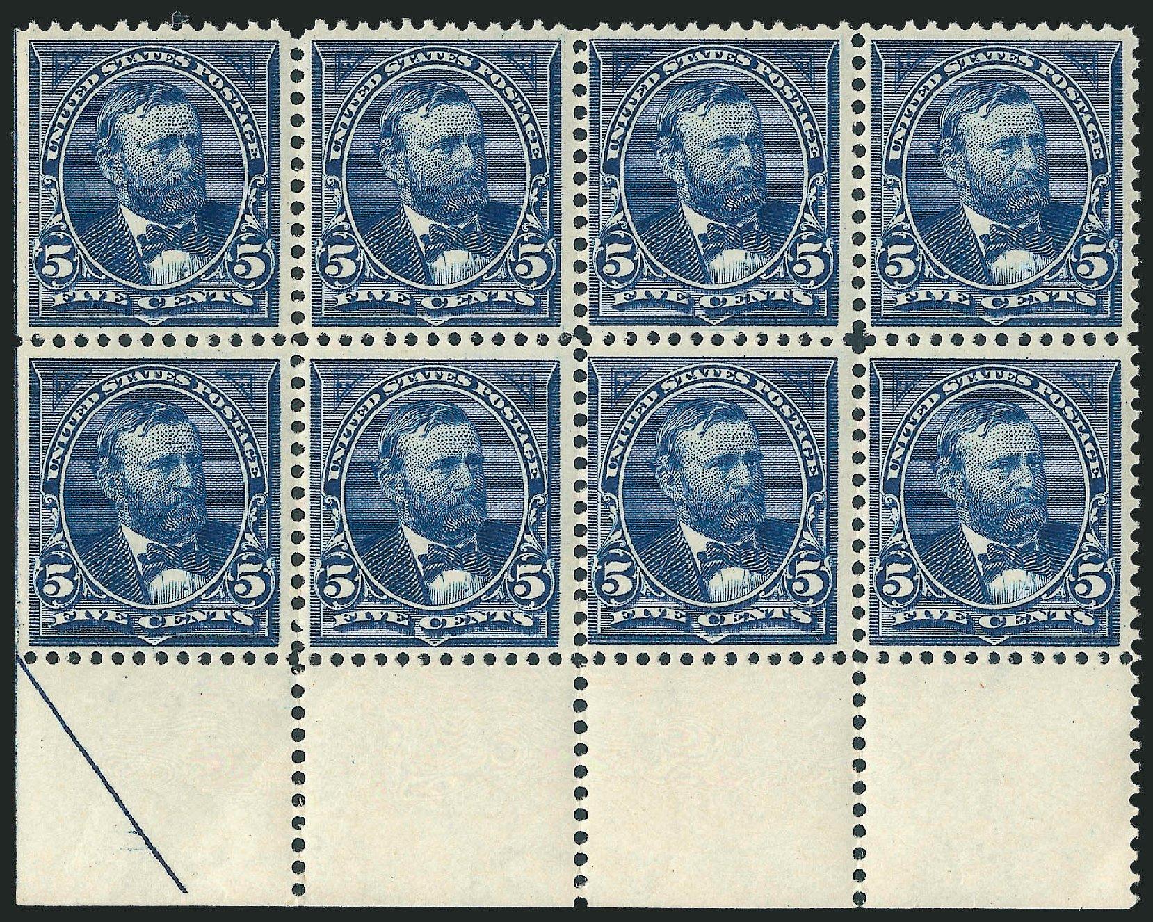 Values of US Stamp Scott Catalog 281 - 5c 1898 Grant. Robert Siegel Auction Galleries, Dec 2011, Sale 1017, Lot 698