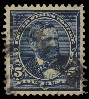 Prices of US Stamp Scott Cat. 281: 5c 1898 Grant. Daniel Kelleher Auctions, Jan 2012, Sale 628, Lot 399