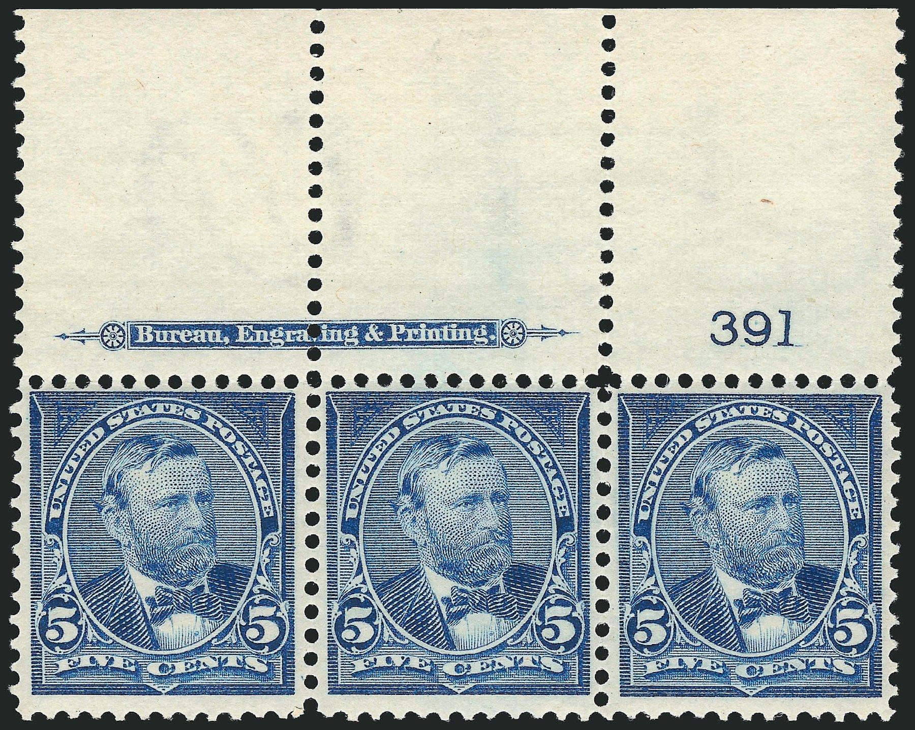 US Stamp Value Scott Cat. 281: 1898 5c Grant. Robert Siegel Auction Galleries, Mar 2012, Sale 1019, Lot 614