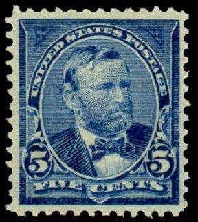 Prices of US Stamp Scott Catalogue # 281 - 1898 5c Grant. Daniel Kelleher Auctions, Sep 2013, Sale 639, Lot 1102