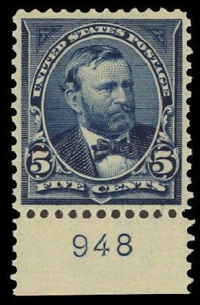 Cost of US Stamps Scott # 281 - 5c 1898 Grant. Daniel Kelleher Auctions, Aug 2012, Sale 631, Lot 1003