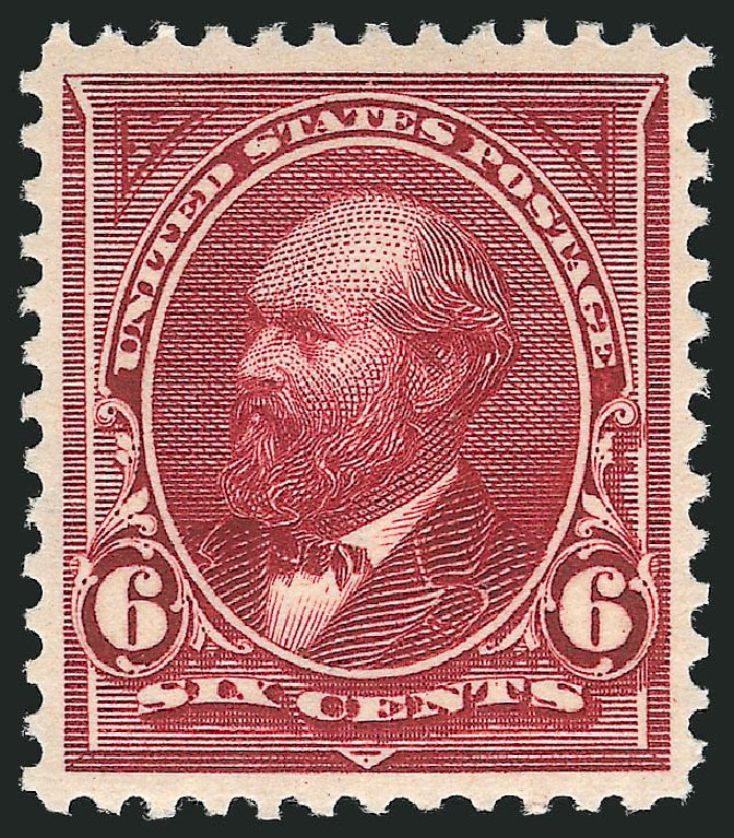 US Stamp Value Scott # 282 - 1898 6c Garfield. Robert Siegel Auction Galleries, Nov 2012, Sale 1034, Lot 267