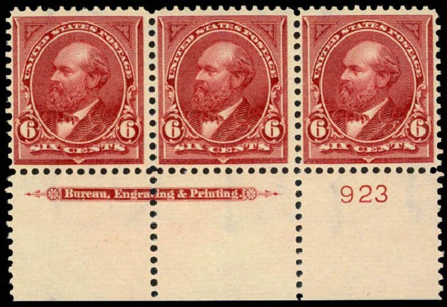 US Stamp Value Scott 282 - 6c 1898 Garfield. Daniel Kelleher Auctions, Mar 2013, Sale 635, Lot 399