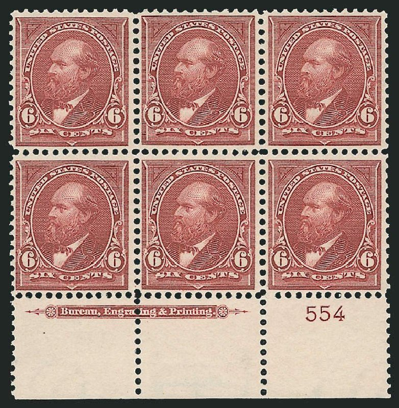 Prices of US Stamp Scott Cat. 282 - 6c 1898 Garfield. Robert Siegel Auction Galleries, Nov 2014, Sale 1084, Lot 3650